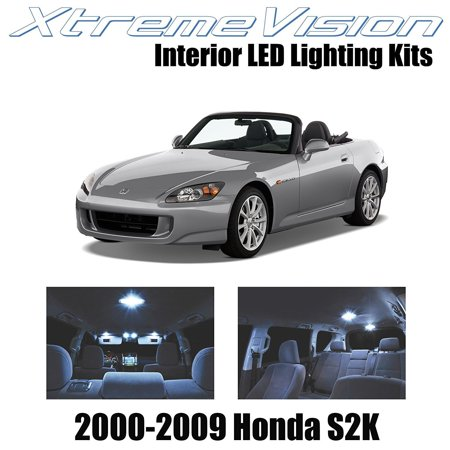XtremeVision LED for Honda S2000 S2K 2000-2009 (4 Pieces) Cool White Premium Interior LED Kit Package + Installation Tool