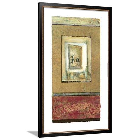 Large Asian Tranquility I Framed Art Print Wall Art  By Mauro - 27.5x44 Asian Tranquility Framed Print