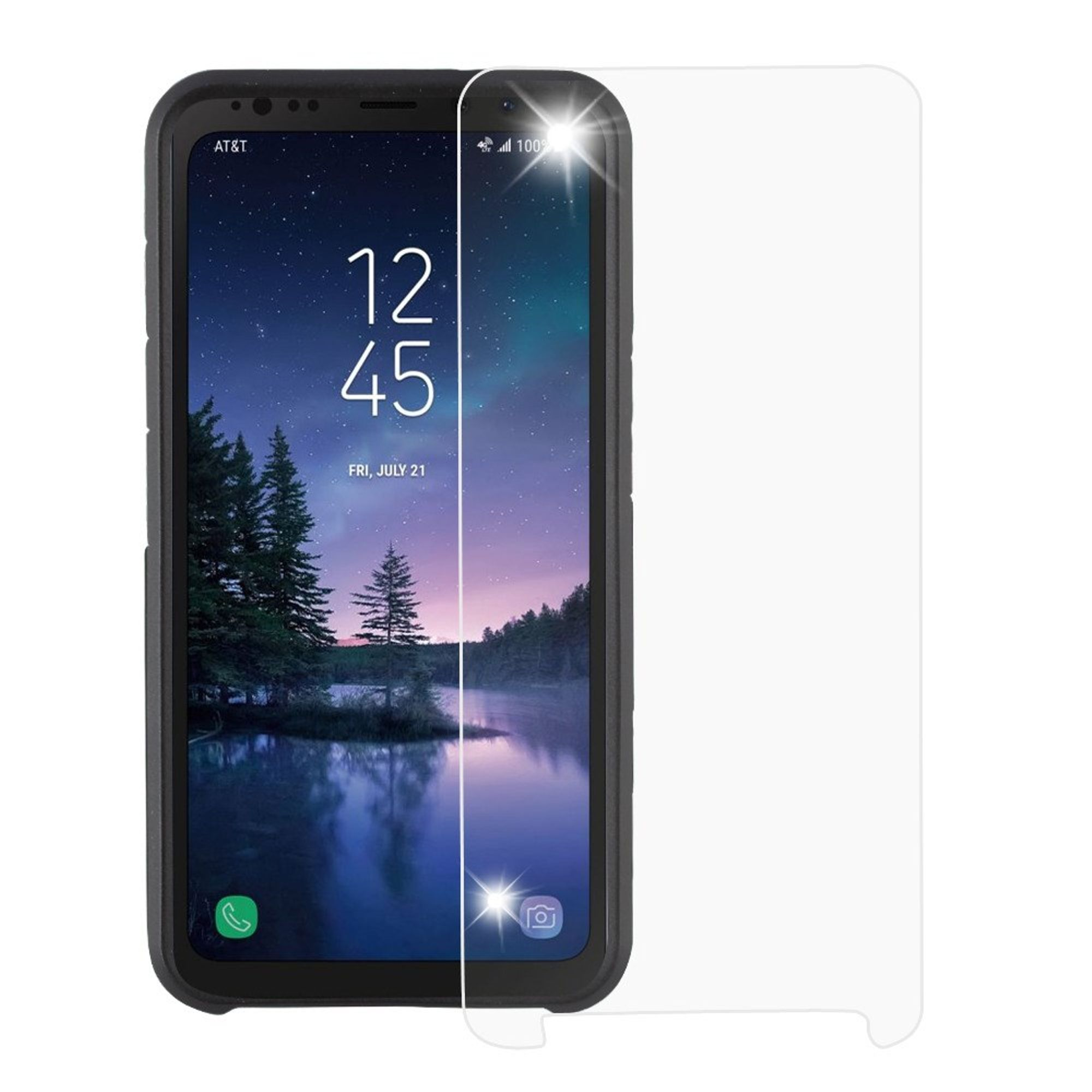 Insten Clear Tempered Glass Screen Protector Film for Samsung Galaxy S8 Active