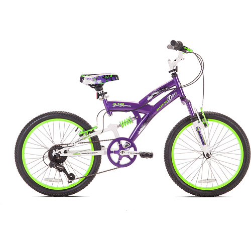 "20"" Girls' Rock Diva Bike, Purple"