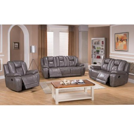 Sofaweb Com Galaxy Gray Top Grain Leather Lay Flat