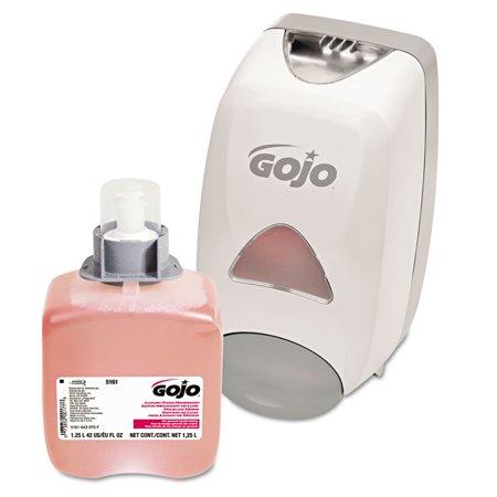 - GOJO FMX-12 Dispenser Kit, with Soap Refill, 1250mL, Gray