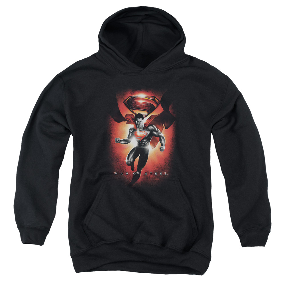 Man of Steel Superman Title Big Boys Pullover Hoodie