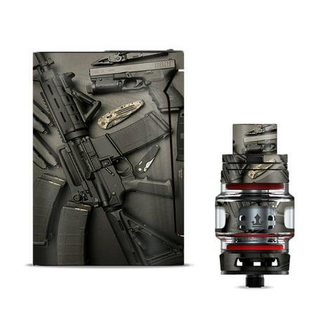 Skin Decal for Smok V-Fin 160w Vape / EDC AR Pistol Gun Knife Military ()