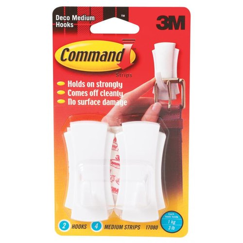 3m 17080 Decorative Hook With Command Adhesive