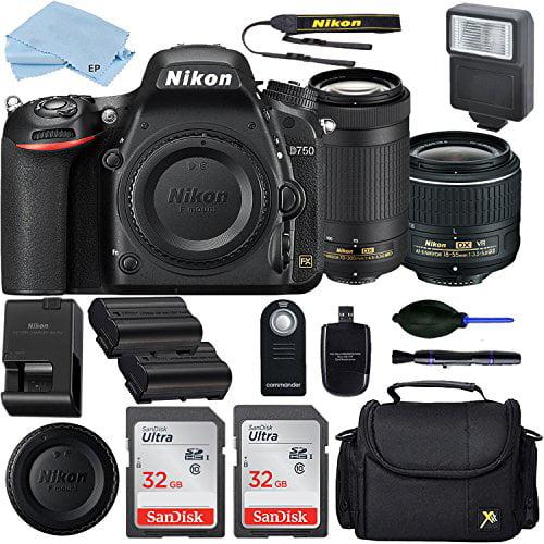 Nikon D750 DSLR Camera with AF-P DX 18-55mm and 70-300mm NIKKOR Zoom...
