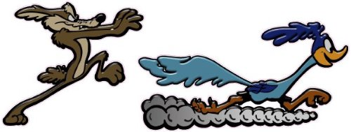 """Coyote and Road Runner 7"""" Decal Free Shipping in the United States. by NOSTALGIA DECALS"""