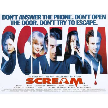 Scream (1996) 11x17 Movie Poster (UK)](Anti Halloween Posters Uk)