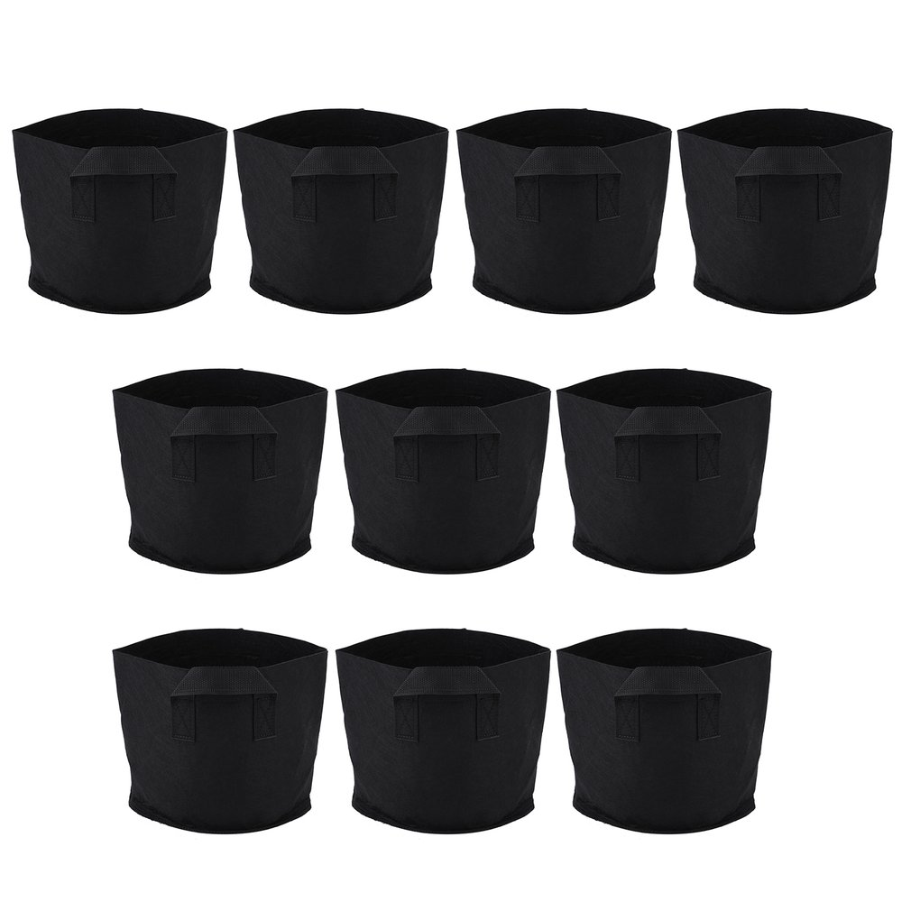 3 Gallon Environmental 10pcs Non-Woven Fabric Indoor Outdoor Grow Pot Bag
