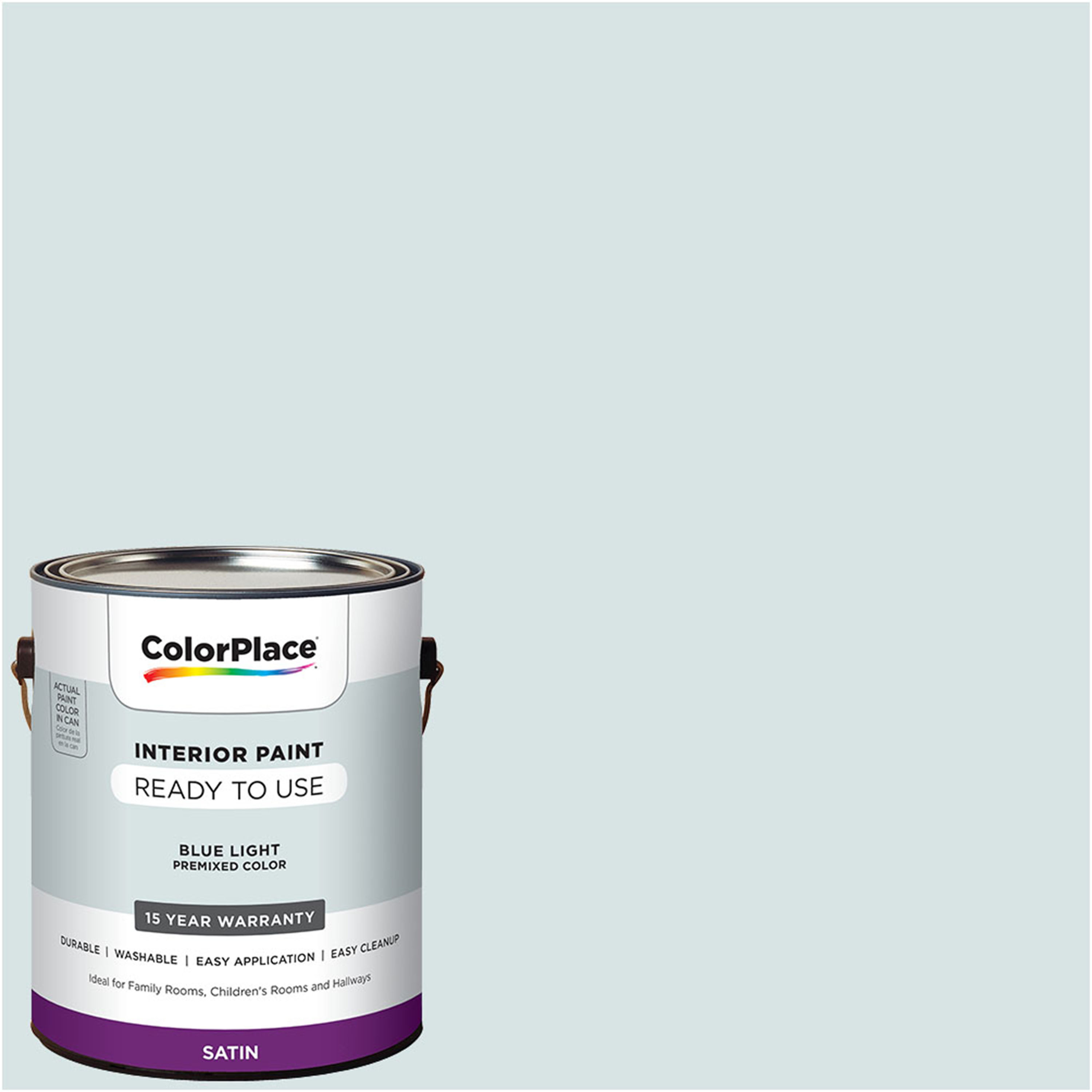 ColorPlace Pre Mixed Ready To Use, Interior Paint, Blue Light, Satin Finish, 1 Gallon by PPG Architectural Coating