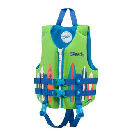 - Speedo Childrens Green Surfboard Life Jacket Neoprene Personal Flotation Device
