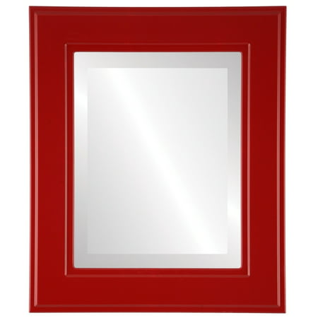 The Oval and Round Mirror Store Montreal Framed Rectangle Mirror in Holiday Red
