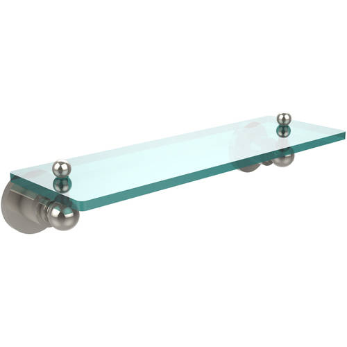"""Astor Place 16"""" Glass Vanity Shelf with Beveled Edges (Build to Order)"""