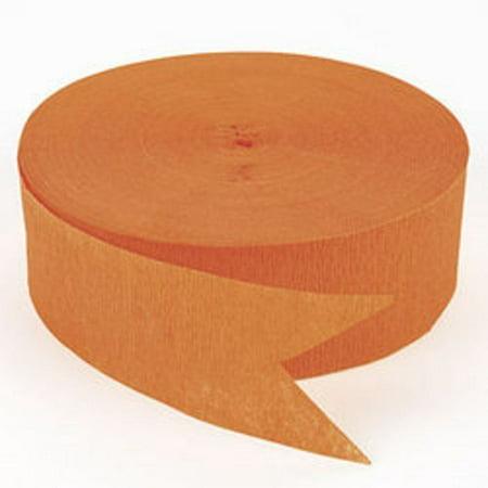 500 Ft Orange Crepe Paper Streamer Halloween Party, Roll measures 1 3/4
