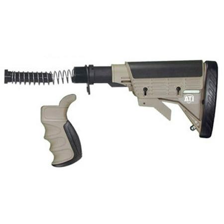 Image of Advanced Technology Strikeforce AR-15 Stock, 6 Position Collapsible Stock, Pistol Grip Kit, Tube Kit, Desert Tan Finish