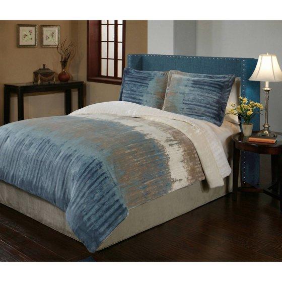 Bentley Velvet Plush Print Bedding Comforter Mini Set