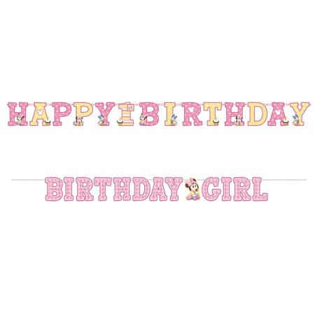 Disney Minnie 1st Birthday Jumbo Letter Banner Combo Pack