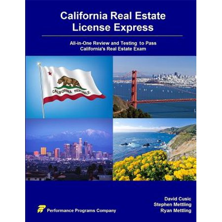 California Real Estate License Express : All-In-One Review and Testing to Pass California's Real Estate (Requirements For California Drivers License Over 18)