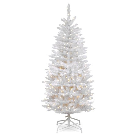 4.5 ft. Kingswood White Fir Pencil Tree with Clear Lights ()