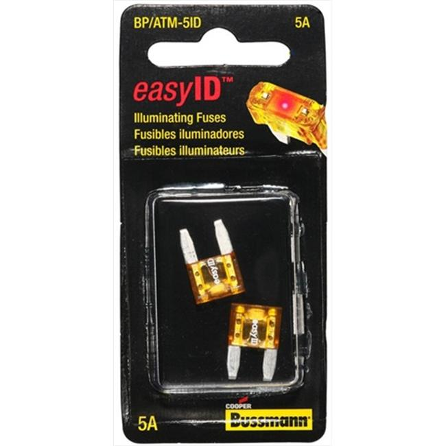 BUSSMANN BPATM5ID Mini Automotive Fuses, Pack - 2