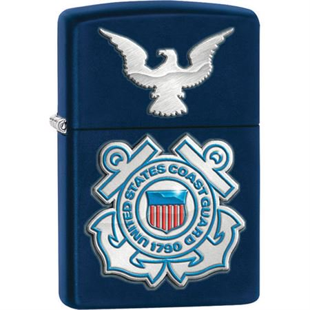 Navy Matte Lighter - Zippo 28681 Navy Matte US Coast Guard Lighter