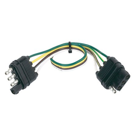 Hopkins Towing Solutions 4-Wire Flat Extension, - Hoppy Trailer Wire Connector