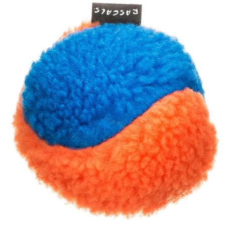 Fleece Squeaky Toy - Rascals Fleece Ball Dog Toy - Orange & Blue 4\