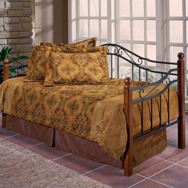 Hillsdale Madison Daybed with Trundle and Suspension Deck, Black