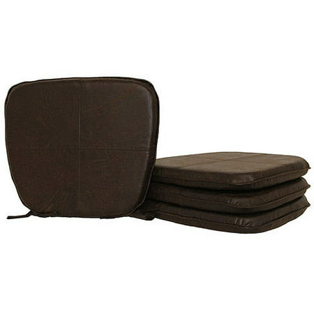 Hometrends Faux Leather Chair Pad Walmart Com