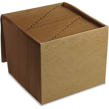 Smead Expanding File, Daily (1-31), 31 Pockets, Flap and Cord Closure, Letter Size, Kraft