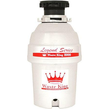 Standard Waste Disposer Flange - Waste King Food Waste Disposer, L-8000 1 HP, EZ-Mount