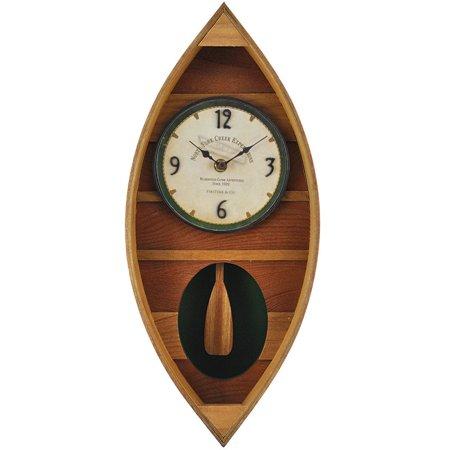 FirsTime Wood Canoe Pendulum Clock ()