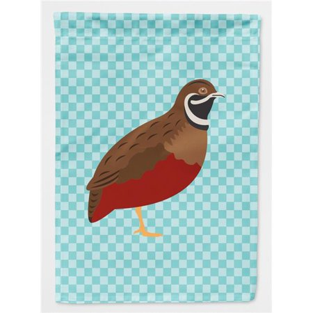 Carolines Treasures BB8130CHF Chinese Painted or King Quail Blue Check Canvas House Flag - image 1 de 1