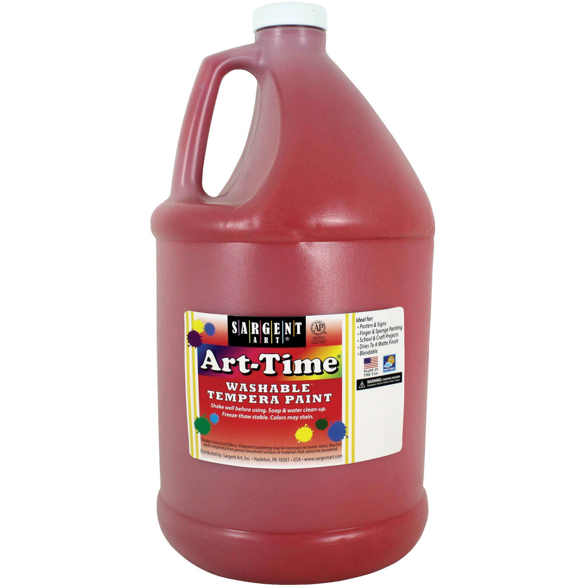 Sargent Art Tempera Paint, 128 oz, Red