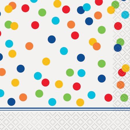 Rainbow Dot Confetti Beverage Napkins, 16ct - Graduation Napkins