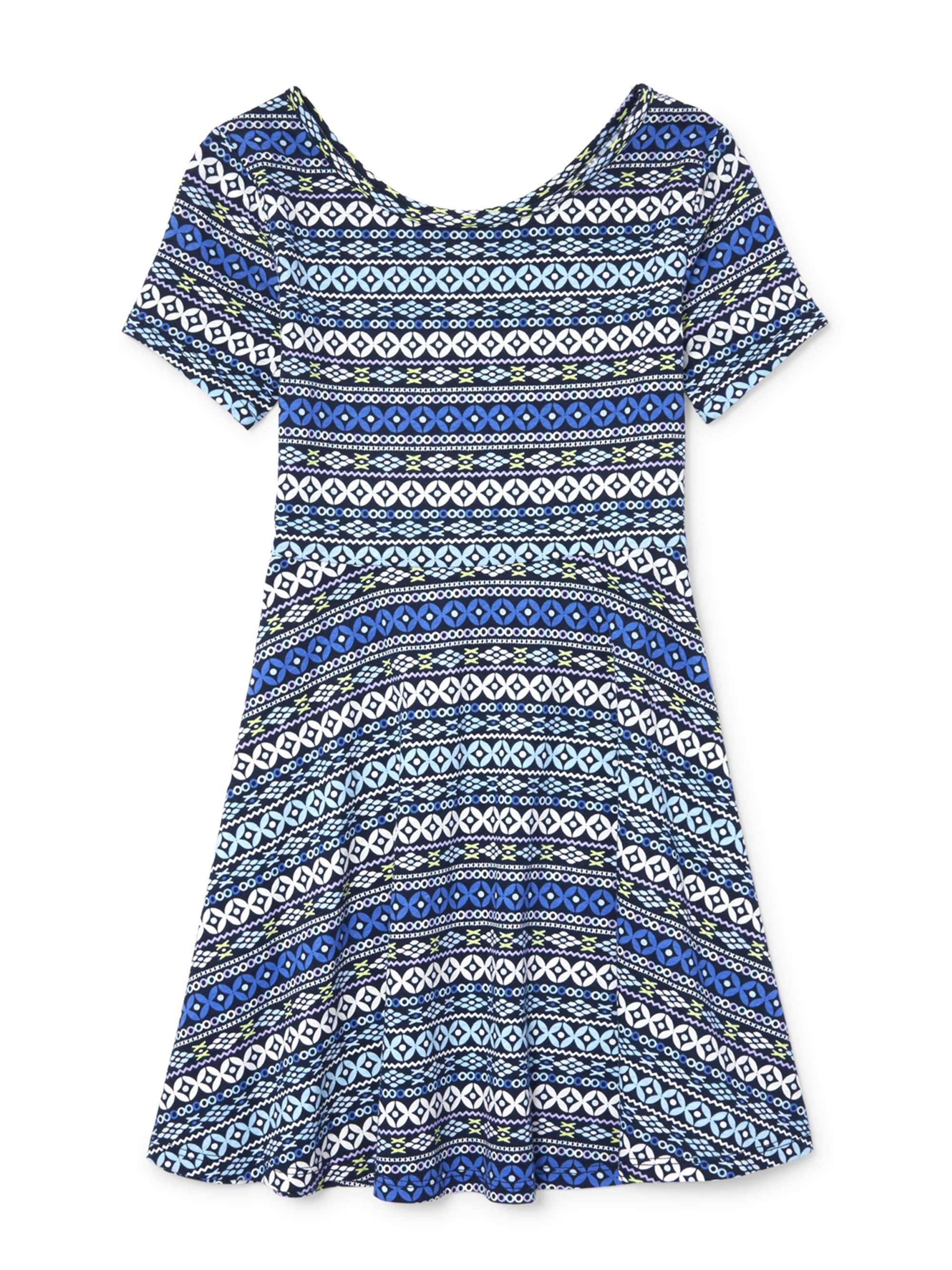 Short Sleeve Fit and Flare Jersey Dress (Little Girls & Big Girls)