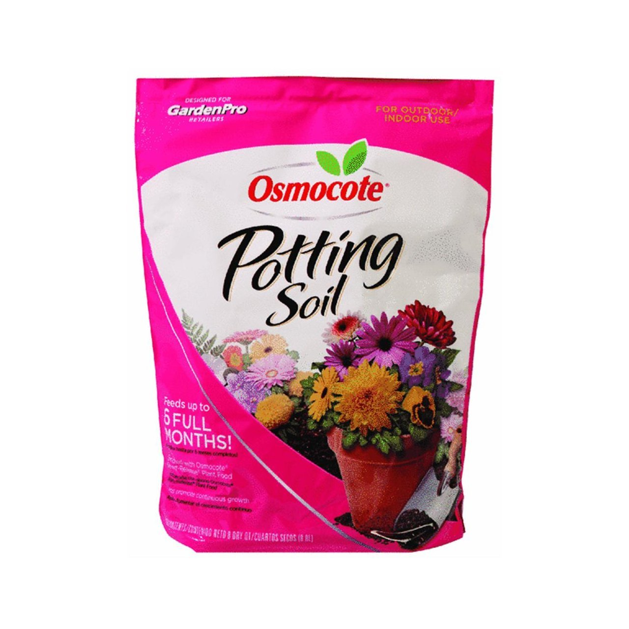 Company GP72778949 Osmocote Potting Soil, 8-Quart, Osmocote potting soil is a specially blended formula which provides container plants with the rich soil conditions By Scotts