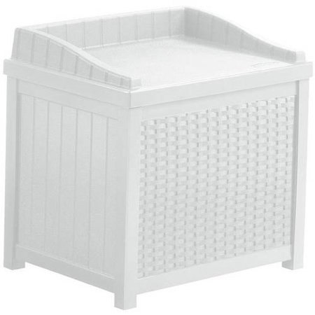 - Suncast 22 Gallon Wicker Storage Seat, SSW1200W