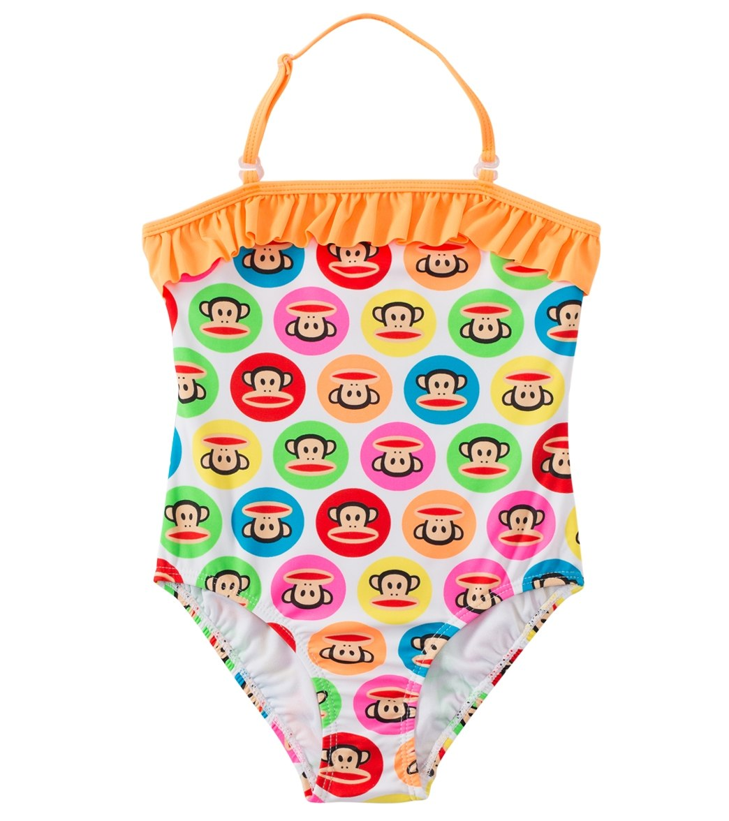 8a97bc32a1 Girls Paul Frank All-Over One-Piece Swimsuit