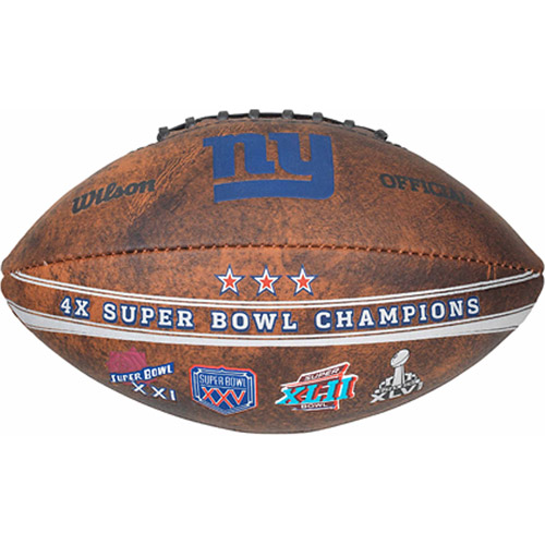 "NFL Commemorative Championship 9"" Football, New York Giants"