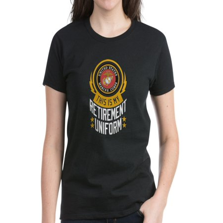 CafePress - Marine Retirement Uniform - Women's Dark T-Shirt (Marine Uniforms Online)