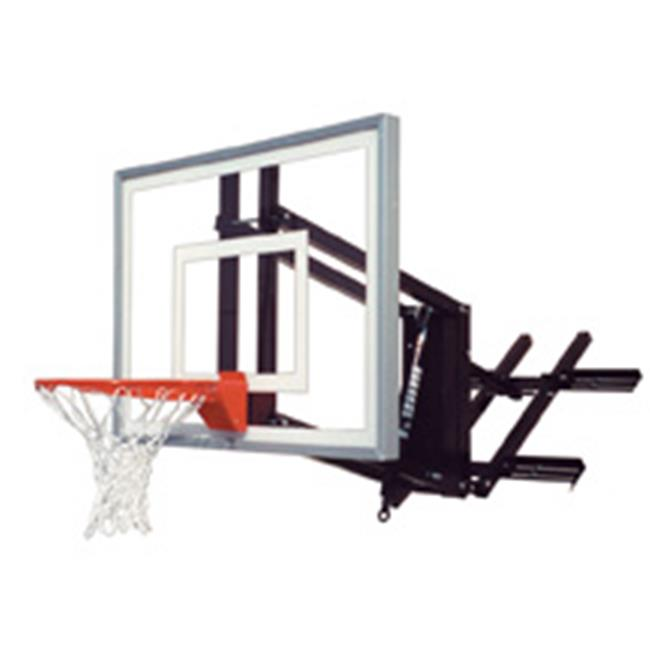 RoofMaster II Steel-Acrylic Roof Mounted Adjustable Basketball System, Forest Green