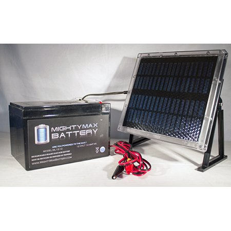 Solar Electric Panels - 12V 12AH Battery for Dart Electrics Veloce + 12V Solar Panel