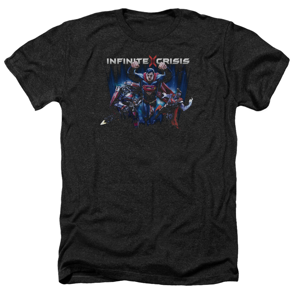 Infinite Crisis Ic Super Mens Heather Shirt