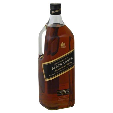 Johnnie Walker Black Label Blended Scotch Whisky, 1.75L