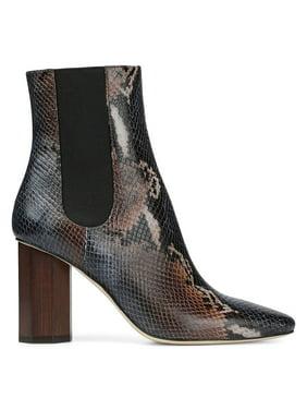 Laila Python-Printed Leather Booties