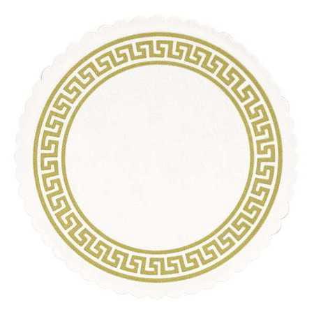 HOFFMASTER Coaster,Budget Board,White,Paper,PK2500 876074