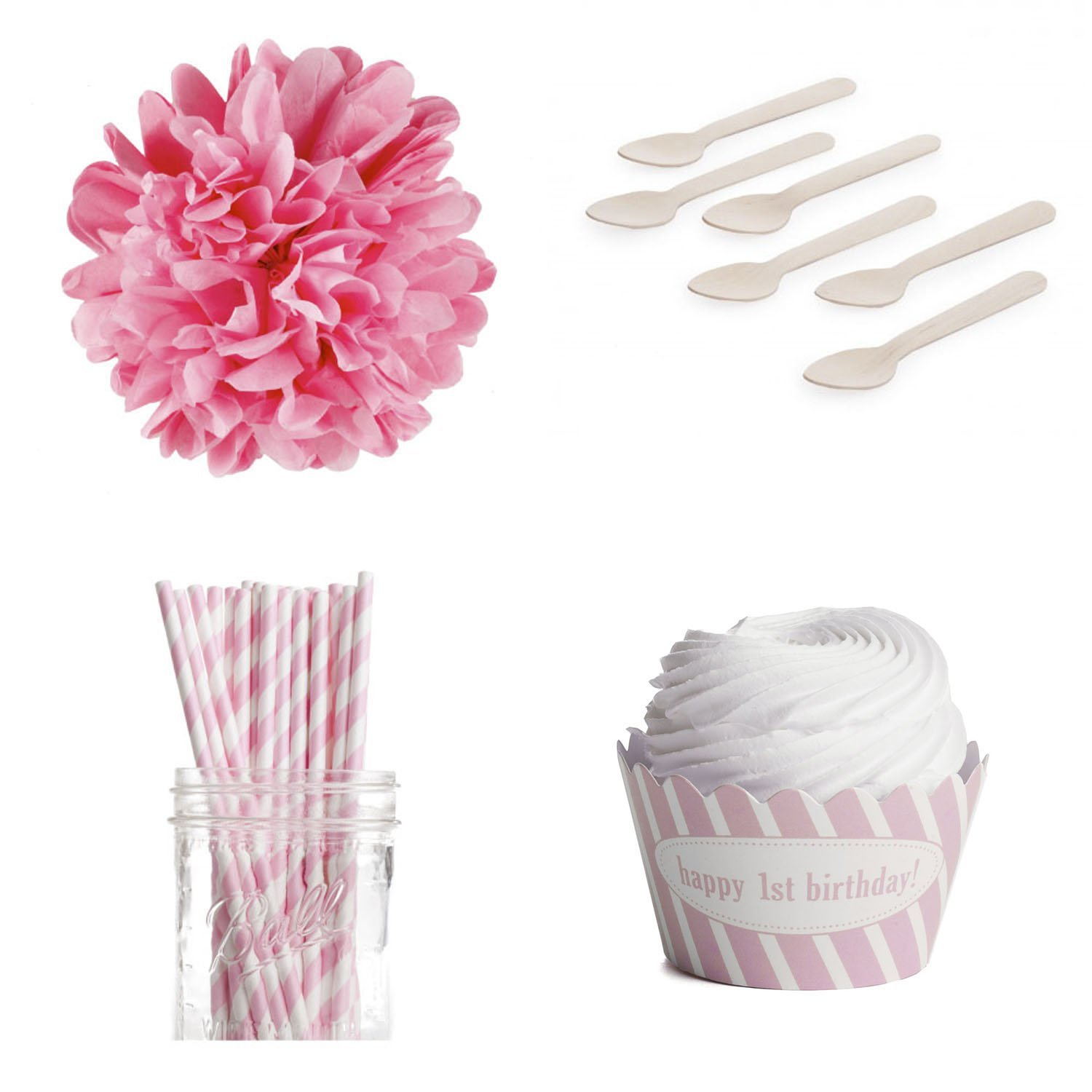 Dress My Cupcake DMC98106 Personalized Dessert Table Party Kit, Striped