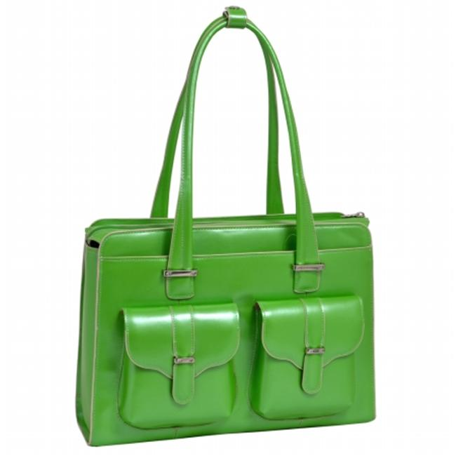 McKlien 96541 Alexis 96541- Green Leather Ladies Briefcase