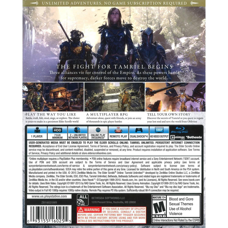 Bethesda Softworks The Elder Scrolls Online (PS4) - Pre-Owned